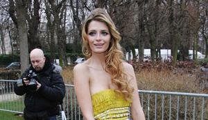 Mischa Barton attends the Christian Dior fashion show during Par