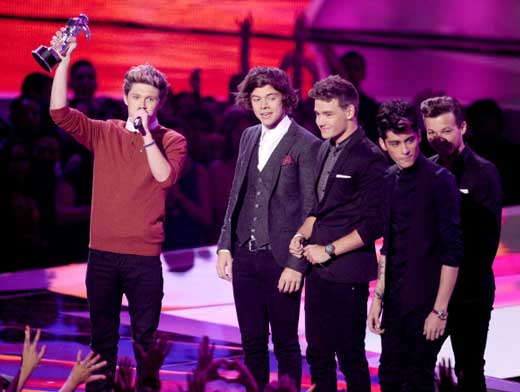 Premiados en los MTV VMA Awards 2012